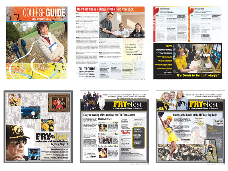 Gazette Special Sections layouts