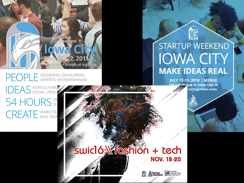 Startup events posters